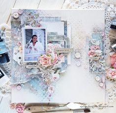 Bee Shabby: Свадебный холст от Nadya Drozdova. Видео мастер-класс