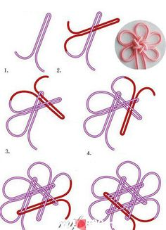 How to tie a Japanese decorative not.