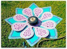 Utterly charming sprinkler head for the garden  Flower Sprinkler Head by FlowerPowerShowers on Etsy