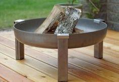designové kovové přenosné ohniště Basic XXL Steel Gauge, Serving Bowls, Fountain, Retro, Tableware, Outdoor Decor, Design, Square Feet, Home Decor