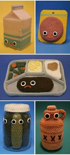 crochet lunch food.