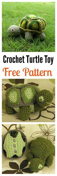 Crochet Turtle Amigurumi Free Patterns #crafts #crochet #crochetpattern #turtle #freepatterns #sewing