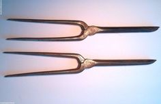 Pair of Antique Marcel Depose Acier C Curling Irons Marked FAST SHIPPING!