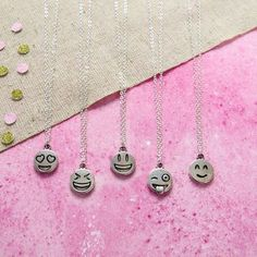 Smiley Face Emoji Necklace cheap gift ideas for teen girls