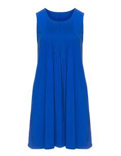 Manon Baptiste Jerseykleid mit Biesen in Blau