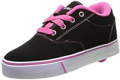 Heelys Launch Skate Shoe (Toddler/Little Kid/Big Kid), Launch is a trendy low profile sneaker with a classic construction and lace closure. Features low profile wheels.