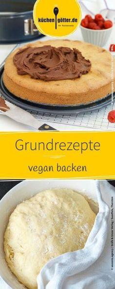 Vegan backen: Hier findet ihr viele tolle Grundrezepte und Tipps für das vegane backen.