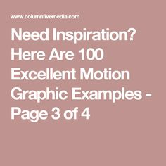 Need Inspiration? Here Are 100 Excellent Motion Graphic Examples - Page 3 of 4