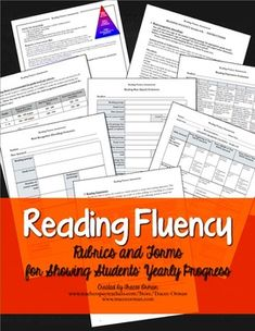 Progress Monitoring: Reading Fluency Rubrics and Assessments Response to Intervention (RtI) Grades 6-8