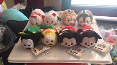 Disney Store Japan TSUM TSUM HOLIDAY CHRISTMAS SET OF 8 IN HAND USA SHIPS NOW<>