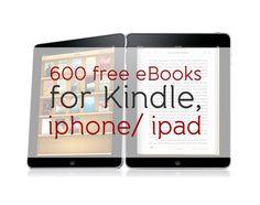 600 free eBooks for Kindle, iphone/ ipad | Just English