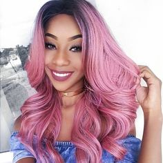 Sew in hairstyle with color Baddie Hairstyles, African Hairstyles, Trendy Hairstyles, Weave Hairstyles, Cabelo Rose Gold, Curly Hair Styles, Natural Hair Styles, Remy Hair Extensions, Body Wave Hair