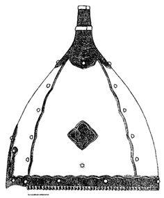 чертеж шлем Черная Могила