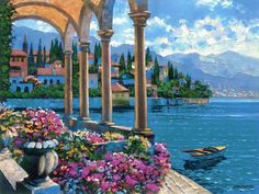 """Villa on Lake Como"" by Howard Behrens"