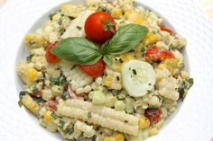 Corn, Cucumber and Avocado Salad with Homemade Ranch via @The Fountain Avenue Kitchen
