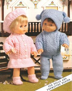 Herbie's Doll Sewing, Knitting & Crochet Pattern Collection: Vintage King Cole Knitting Pattern Number 7130 For. Herbie's Doll Sewing, Knitting & Crochet Pattern Collection: Vintage King Cole Knitting Pattern Number 7130 For. Knitting Dolls Clothes, Crochet Doll Clothes, Knitted Dolls, Doll Clothes Patterns, Crochet Dolls, Knitting Toys, Dress Patterns, Baby Knitting Patterns, Baby Patterns