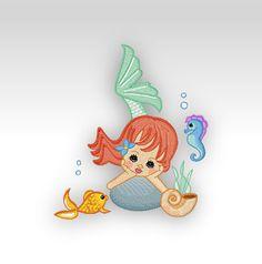 SINGLE  Embroidery Design  Precious Mermaid by CeciliasEmbroidery, £5.00