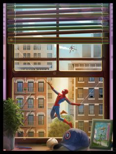 Spiderman by Andy Fairhurst - Visit to grab an amazing super hero shirt now on sale!