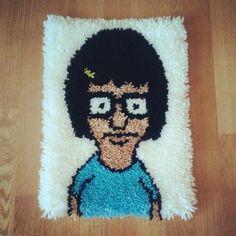 Tina latch-hook Rug (Bob's Burgers)