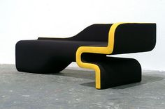 Hunting Lines: German designer Daniel Becker's modern Chaise Lounge featuring bold curves and folded angles.