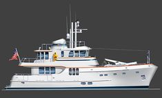 Yachts - Expedition Trawler Yacht Design by Stephen R. Yacht Design, Boat Design, Yacht For Sale, Boats For Sale, Speed Boats, Power Boats, Trawler Boats, Trawler Yachts For Sale, Explorer Yacht