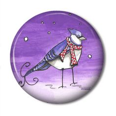 Pocket Mirror  Blue Jay by BeeDazzlesGifts on Etsy, $4.50