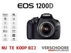 De nieuwe Canon 1200D is te kopen in onze winkel. Tevens is hij verkrijgbaar in onze webshop! - Foto Verschoore / Verschoore Sprintphoto Services