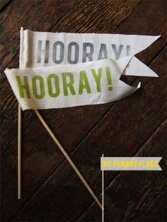 Hooray Flags with template - Kollabora