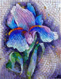 Wild Track Mosaic Tray, Mosaic Glass, Mosaic Tiles, Glass Art, Stained Glass, Mosaic Artwork, Mosaic Wall Art, Mosaic Crafts, Mosaic Projects