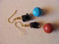 ΦΩΤΕΙΝΗ ΜΑΜΑΛΗ  ΧΕΙΡΟΠΟΙΗΤΑ ΚΟΣΜΗΜΑΤΑ: Σκουλαρίκια με λάβες, τυρκουάζ και κοράλια! Stud Earrings, Jewelry, Jewlery, Jewerly, Stud Earring, Schmuck, Jewels, Jewelery, Earring Studs