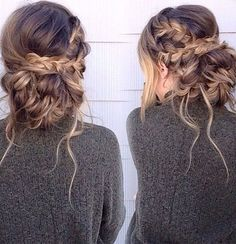 Stunning Rope Braided Updo Hairstyles 2018 for Prom