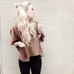 12 Le Fashion Blog 20 Inspiring Half Up Top Knot Hairstyles Long Bleach Blonde Hair Bun Via Sundays Pearl