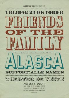 Friends of the Family & AlascA - 23 oktober 2015 @ Theater de Veste, Delft