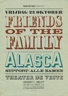 Friends of the Family & AlascA - 23 oktober 2015 @ Theater de Veste, Delft
