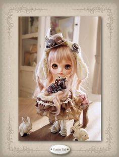 Valentine's Day  マカロンうさぎ ショコラ カスタムブライス_画像3