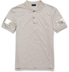 LanvinMetallic-Print Cotton-Piqué Polo Shirt|MR PORTER