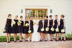 navy bridesmaid dresses.