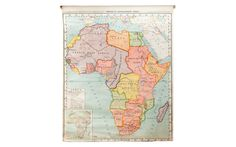 Vintage Classroom Pull Down Map of Africa in Katonah, New York on Krrb! Pull Down Map, Africa Map, Old And New, Vintage World Maps, Art Pieces, New Homes, Diagram, Classroom, 1930s