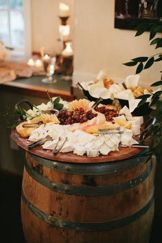 CHEF'S SELECTION of ARTISAN CHEESES from Mt. Townsend Creamery, Rogue Creamery, Cypress Grove grape clusters, sliced apples & pears, fruit gelees,  candied nuts, @macrinabakery artisanal baguettes. Ravishing Radish Catering | Lucid Captures Photography
