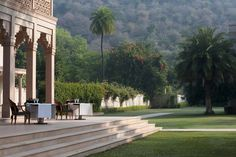 Restaurant Terrace at Amanbagh, Rajasthan India