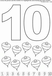 preschool number 10 worksheets (5)