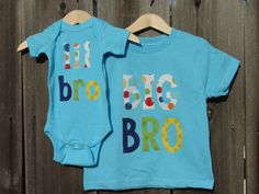 NEW Big Brother Little Brother Matching Shirt and by TheMommaFish, $40.00
