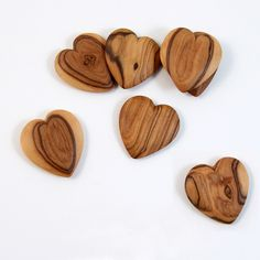 wooden hearts - great for little pockets, gift tags, bridesmaid presents, #valentinesday or wedding favors