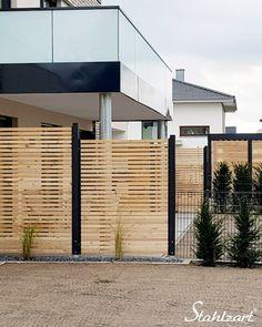 Fence Design, Garden Design, New Kitchen Doors, Diy Fence, Backyard Fences, Fence Ideas, Spa Interior, House Front Door, Small Room Decor