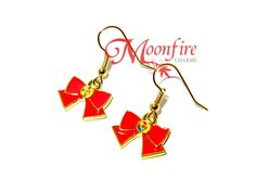 SAILOR MOON Red Ribbon Earrings