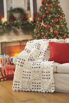 Crochet Snowflake Afghan free pattern...this is really cute