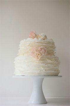 Baby Girl shower cake ~ pink ♥ Shabby Chic themed baby shower!