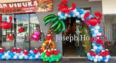 . Balloon Arch, Balloons, Ocean Themes, Balloon Decorations, Under The Sea, Baby Showers, Squares, Nautical, Hawaii