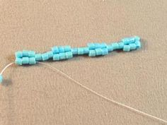Two and Three Drop Peyote Stitch Tutorial: Continue Stitching the Remainder of the Row