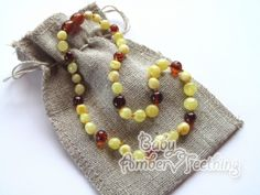 amber teething necklace – for teething